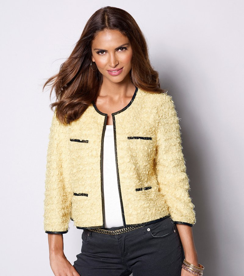 Chaqueta corta para mujer de tricot