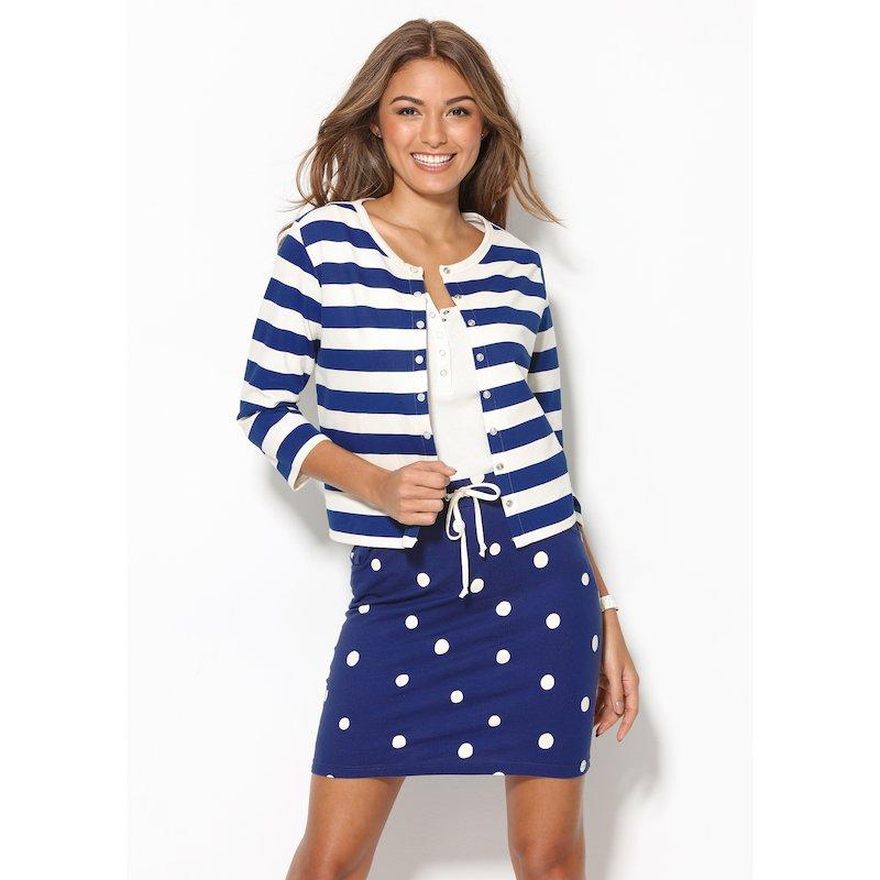 Chaqueta mujer rayas marineras felpa 100% algodón
