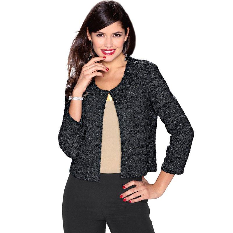 Chaqueta mujer de vestir tricot con aplicaciones