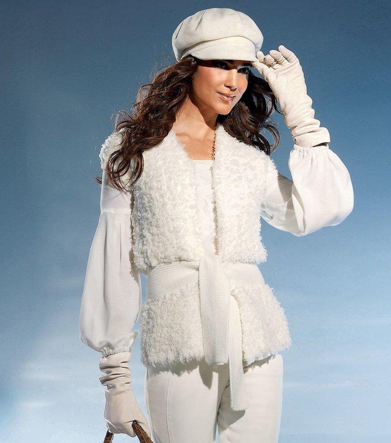 Chaleco mujer de punto tricot