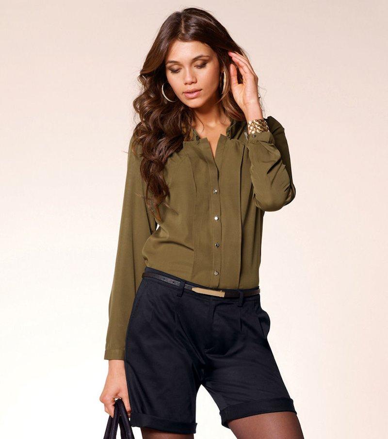 Camisa blusa mujer manga larga regulable