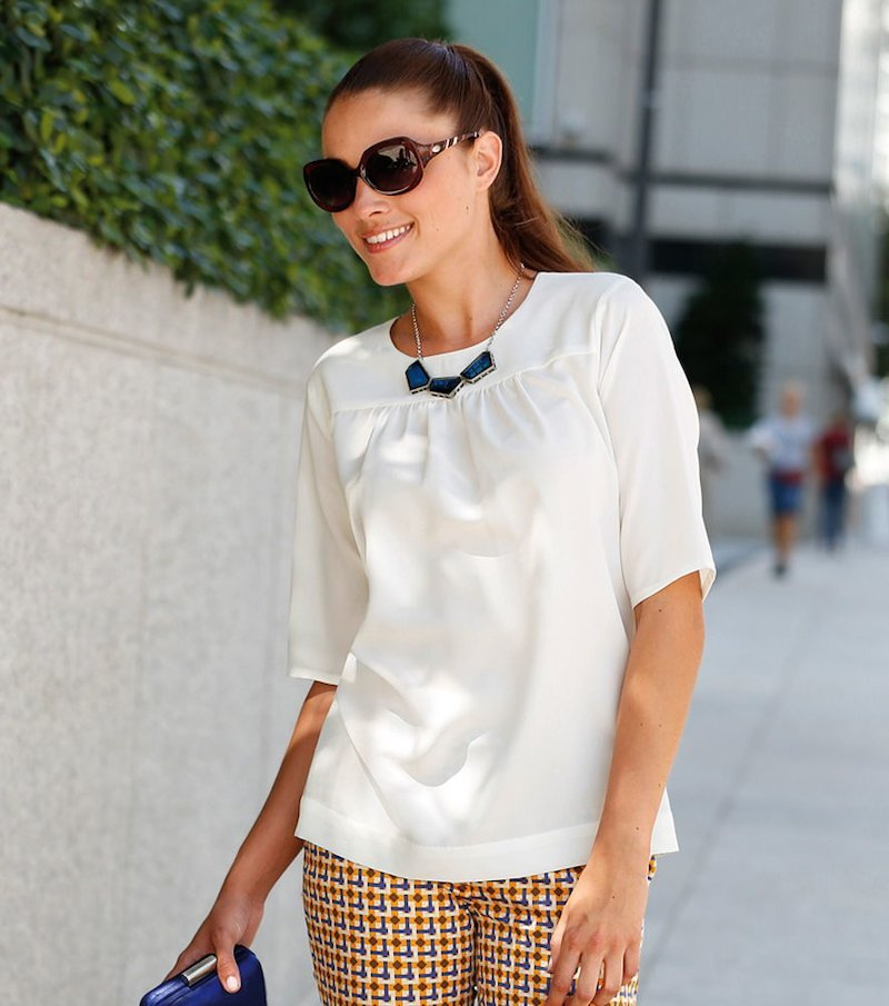Camisa blusa mujer manga corta - Blanco