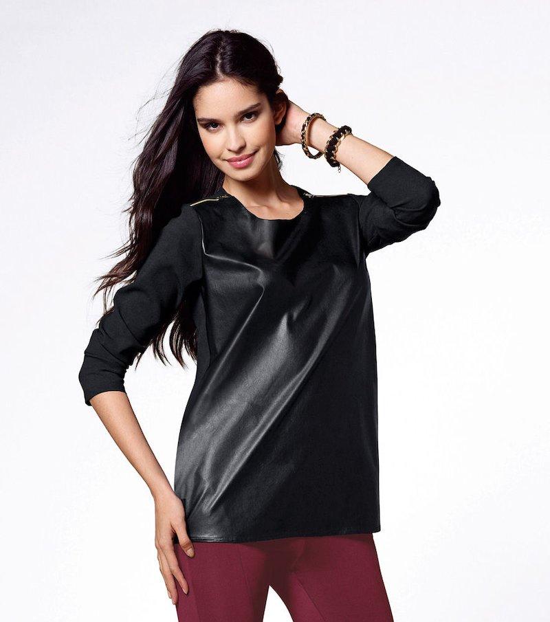 Blusa mujer manga larga con cremalleras