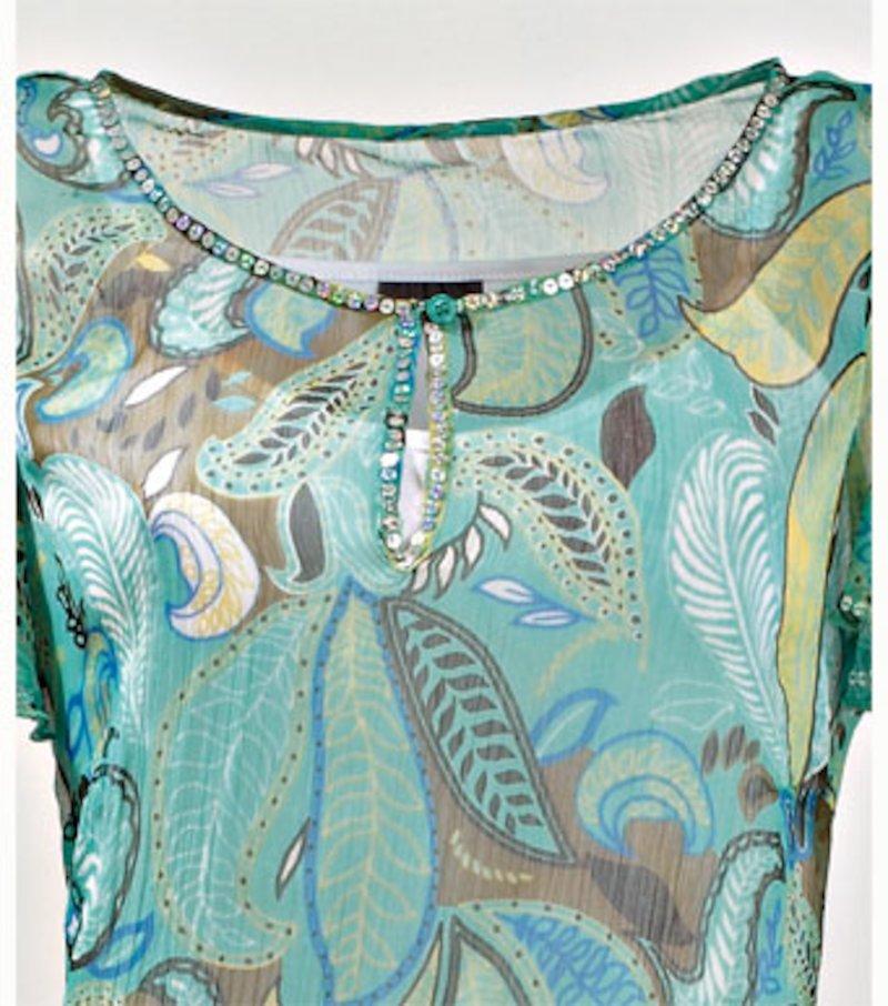 Blusa larga mujer+camiseta tirantes de regalo - Azul