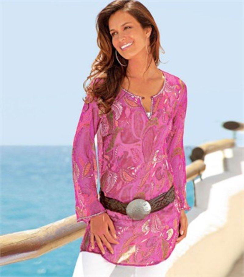 Blusa larga mujer+camiseta tirantes de regalo
