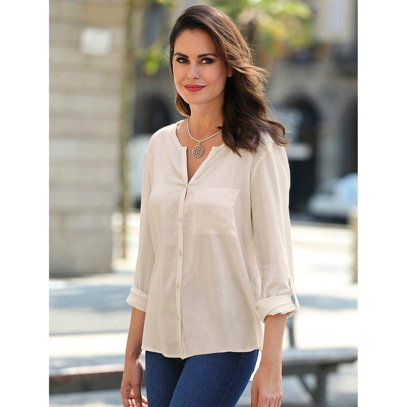 Camisa mujer de manga larga regulable