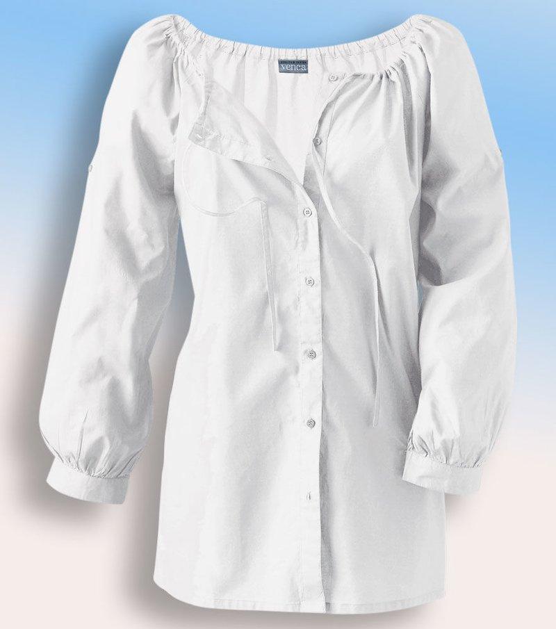 Camisa manga 3/4 - Blanco