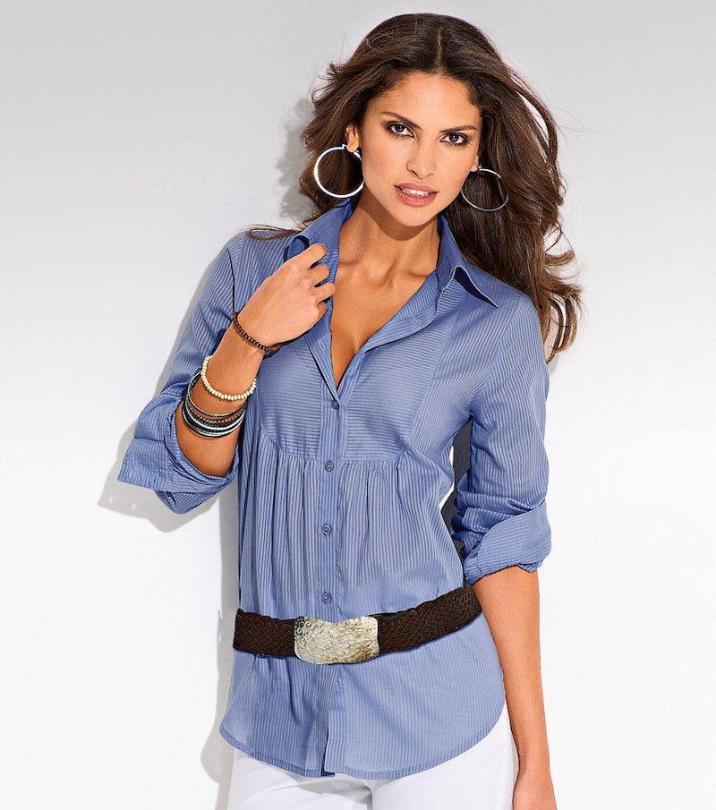 Blusa mujer manga larga de algodón