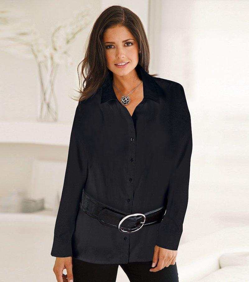 Camisa túnica larga mujer de manga larga