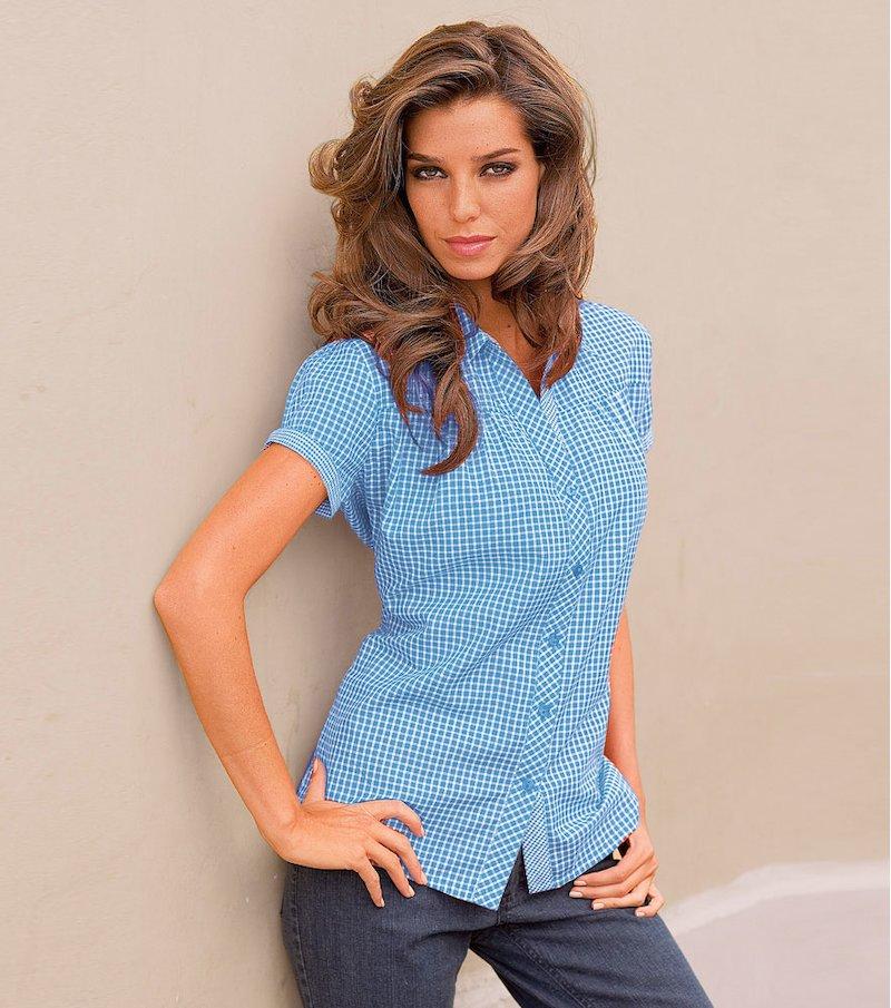 Camisa mujer manga corta de algodón