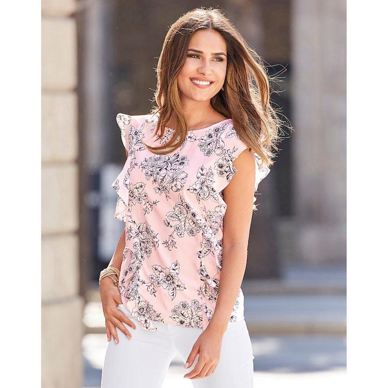 Blusa sin mangas con estampado floral