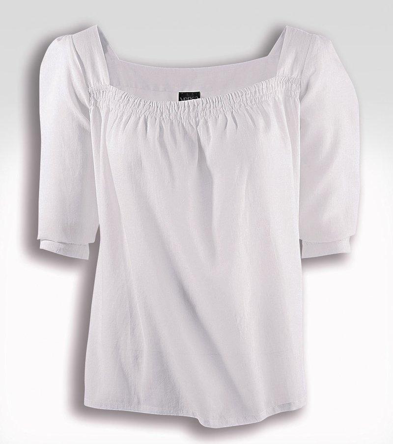 Camisa mujer manga 3/4 100% algodón