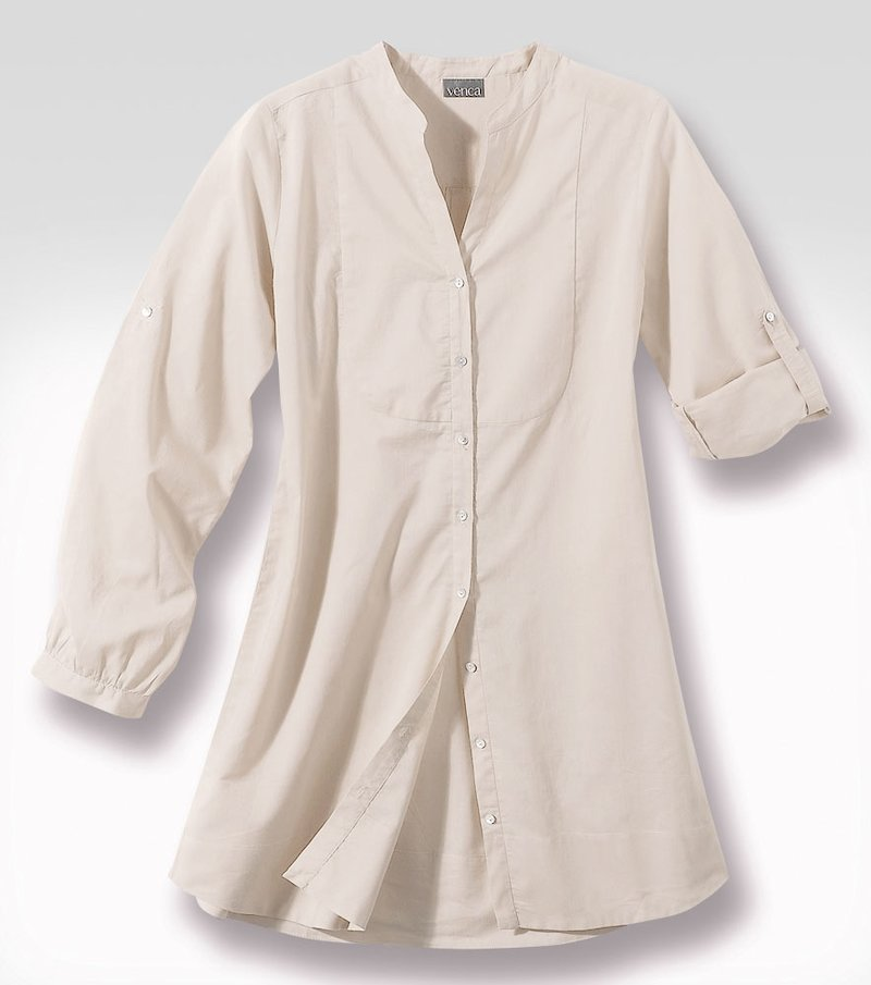 Vestido camisa larga mujer 100% algodón