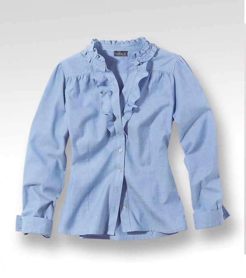 Camisa blusa mujer manga larga 100% algodón