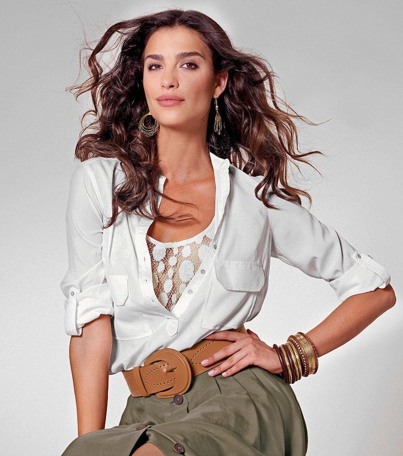 Camisa blusa para mujer de manga larga