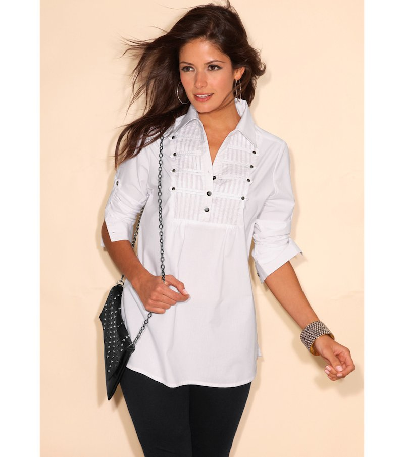 Camisa mujer manga larga regulable elástica