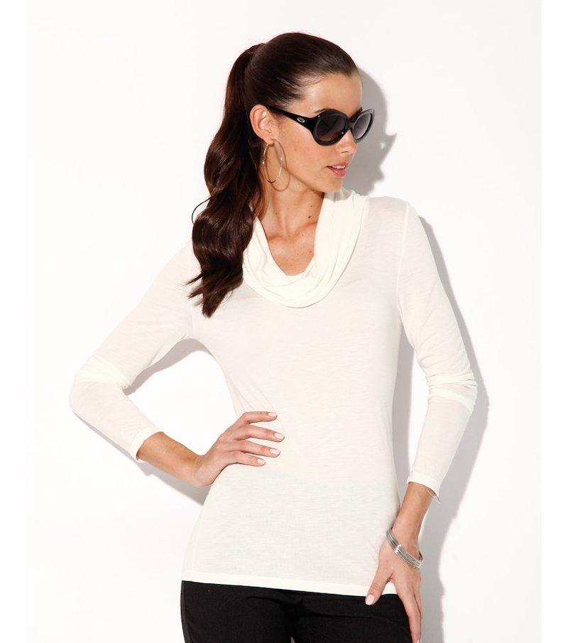 Camiseta mujer manga larga punto