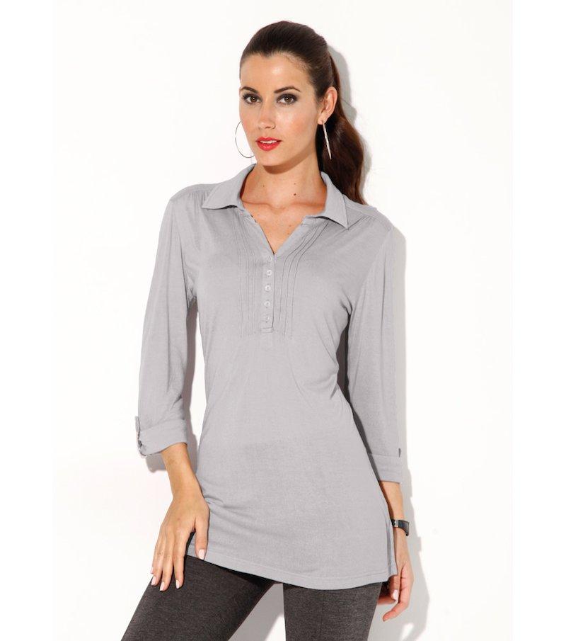 Camiseta mujer manga 3/4 con jaretas