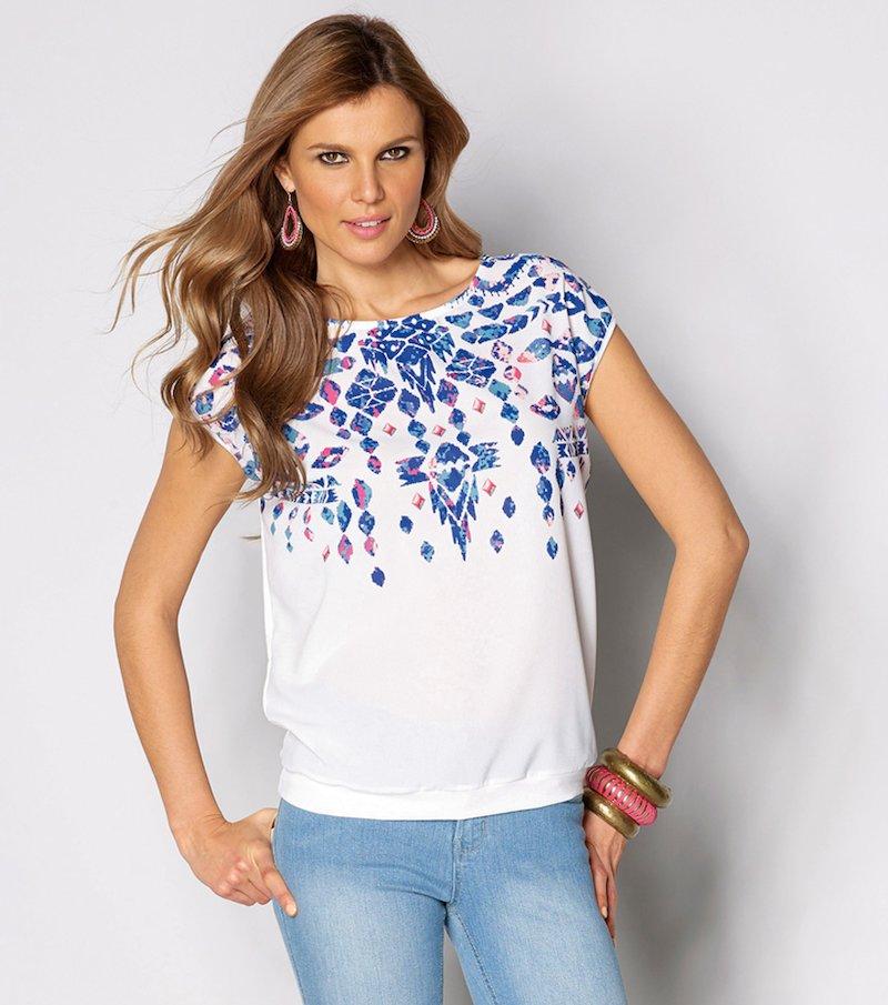 Camiseta mujer manga corta con estampado