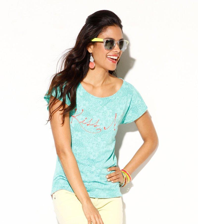 Camiseta mujer manga corta estampada