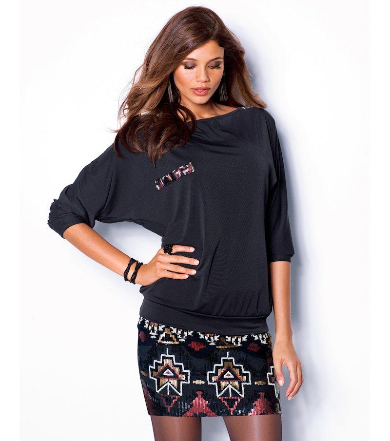 Camiseta mujer manga murciélago