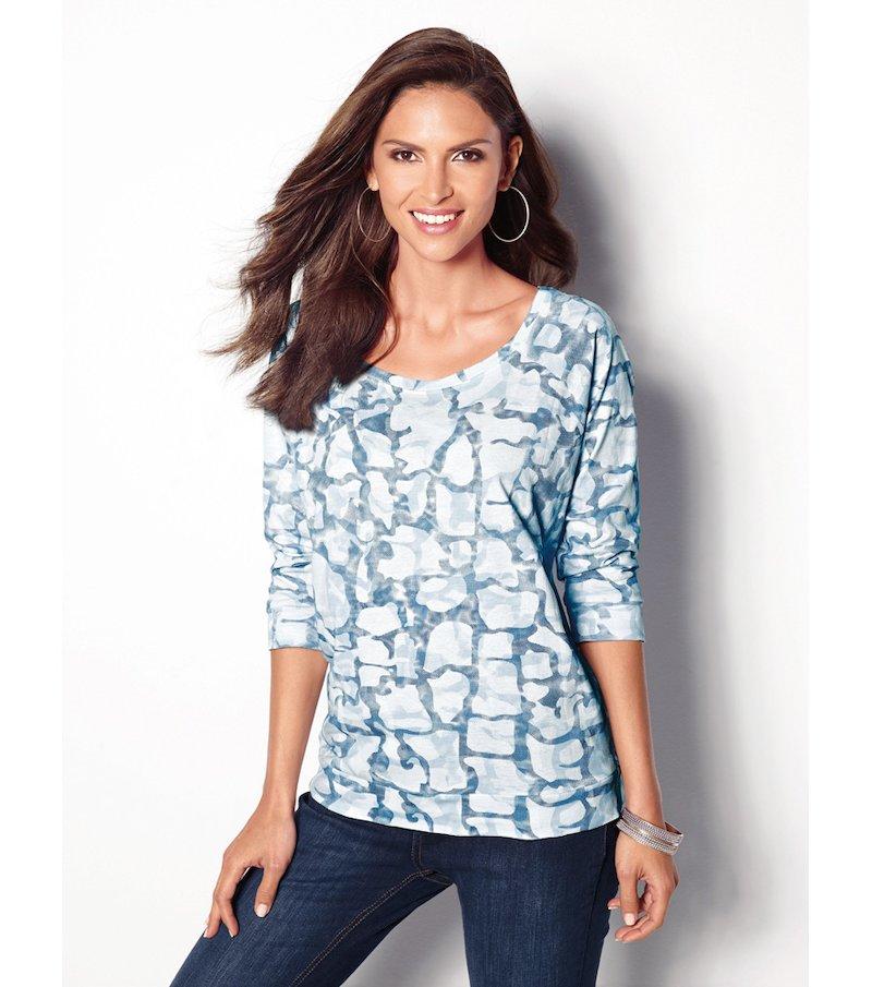 Camiseta mujer manga 3/4 estampado vanguardista