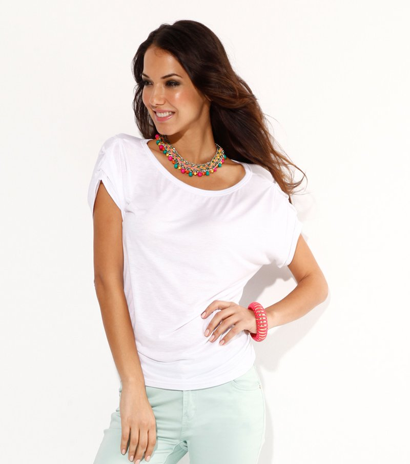 Camiseta mujer manga corta blanco