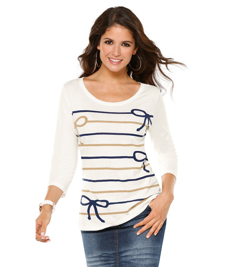 Camiseta mujer estampado rayas