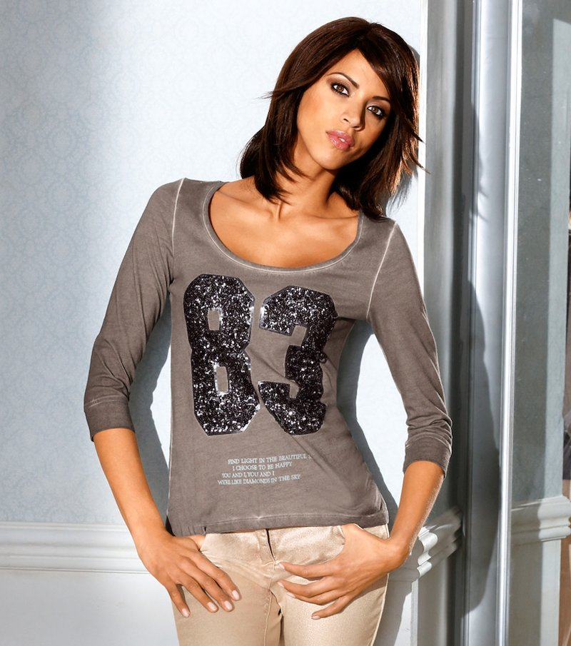 Camiseta de mujer manga 3/4 fantasía HEINE