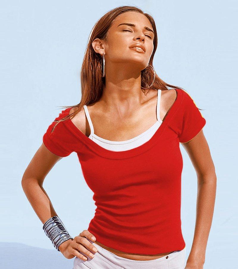 Camiseta doble - Rojo