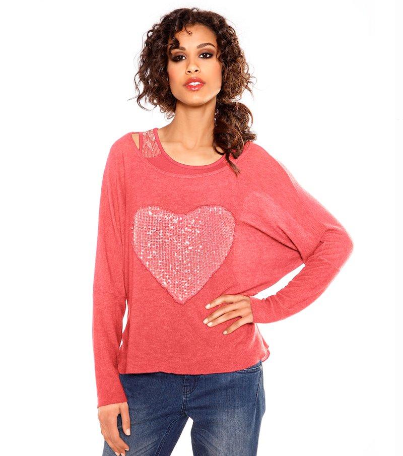 Camiseta 2 en 1 de mujer manga larga HEINE