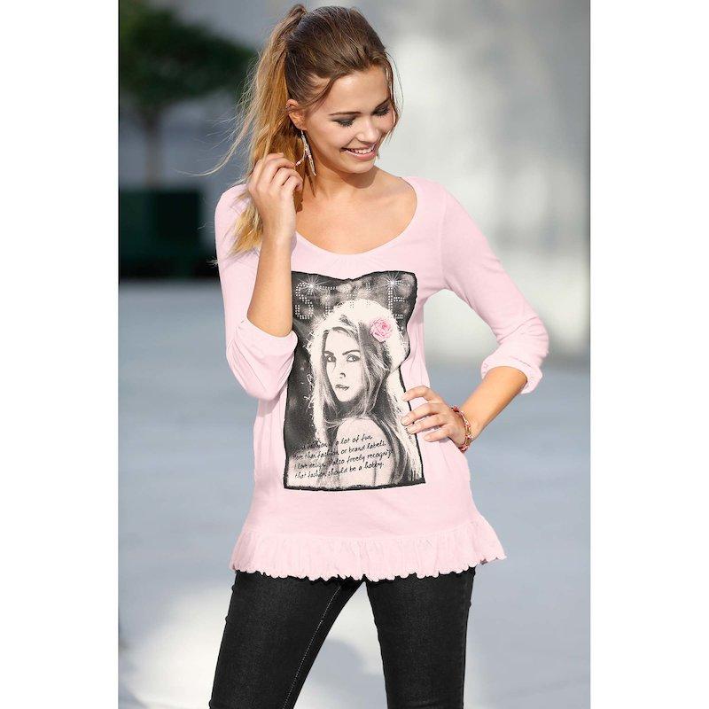 Camiseta mujer con aplicaciones strass  algodón