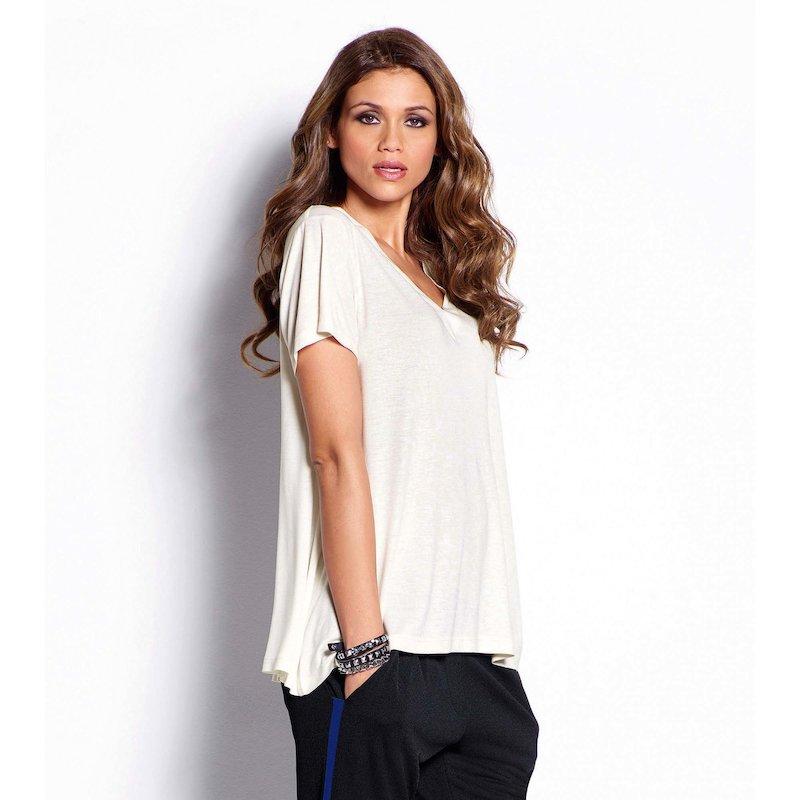 Camiseta mujer manga corta viscosa