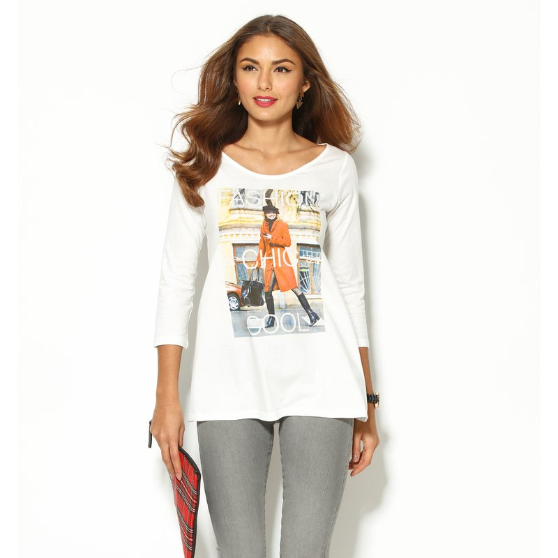 Camiseta mujer manga 3/4 fashion chic cool