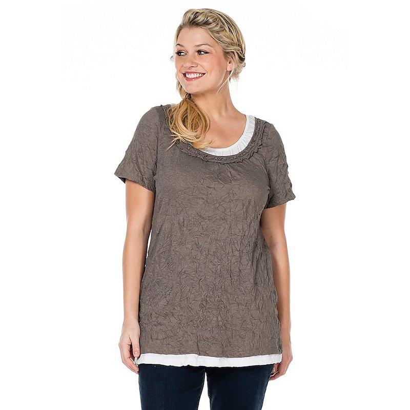 Camiseta de mujer efecto doble