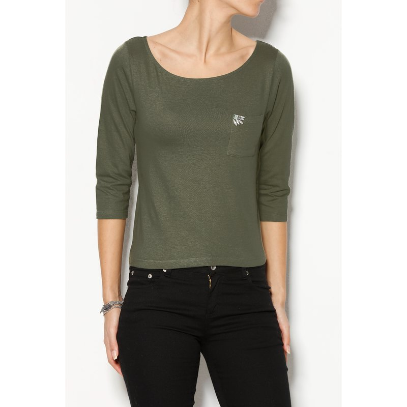 Camiseta mujer de algodón con detalle pedrería