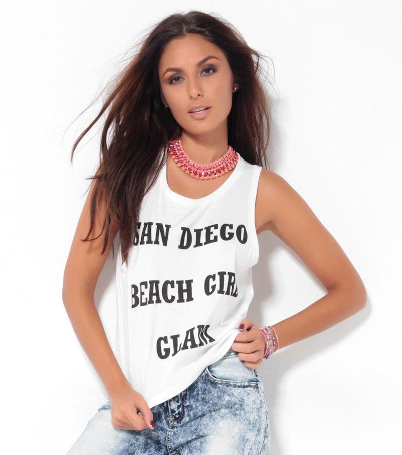Camiseta de mujer tirantes estampada
