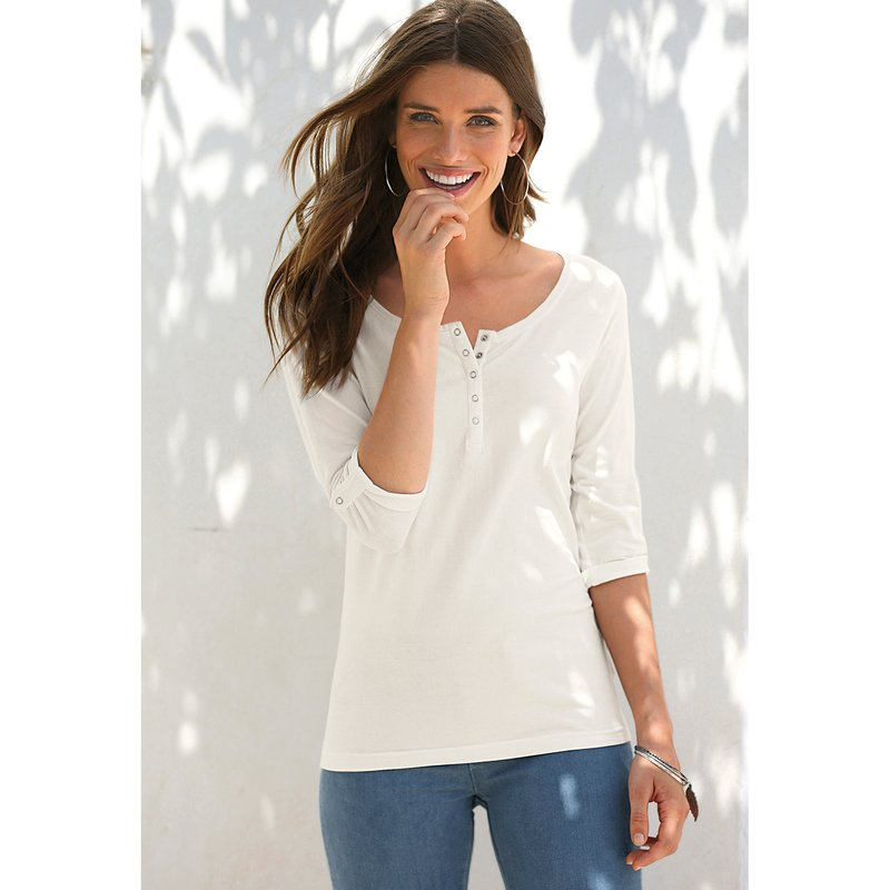 Camiseta mujer manga 3/4 regulable automáticos