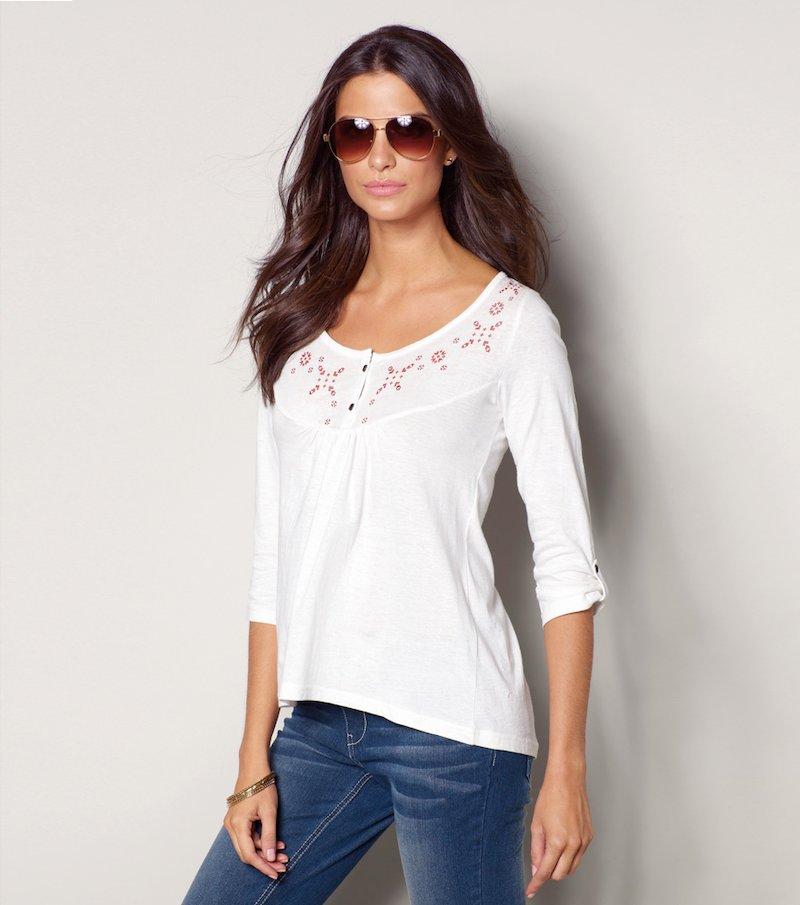 Camiseta mujer manga 3/4 estampada