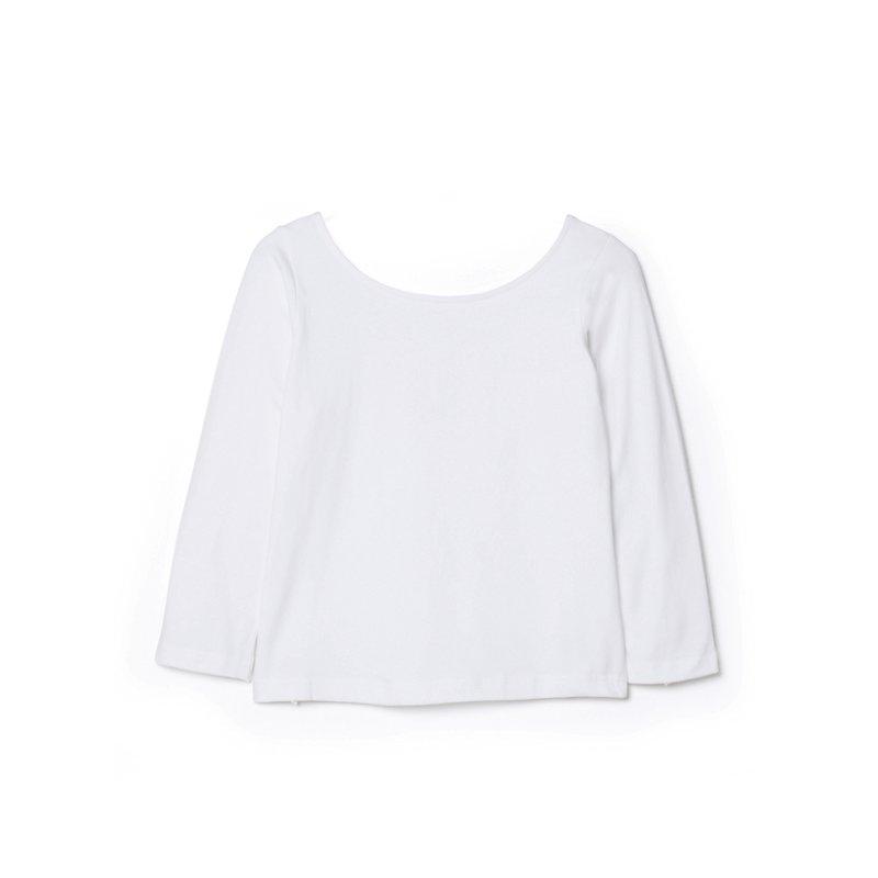 Camiseta mujer de manga 3/4 en algodón elástico