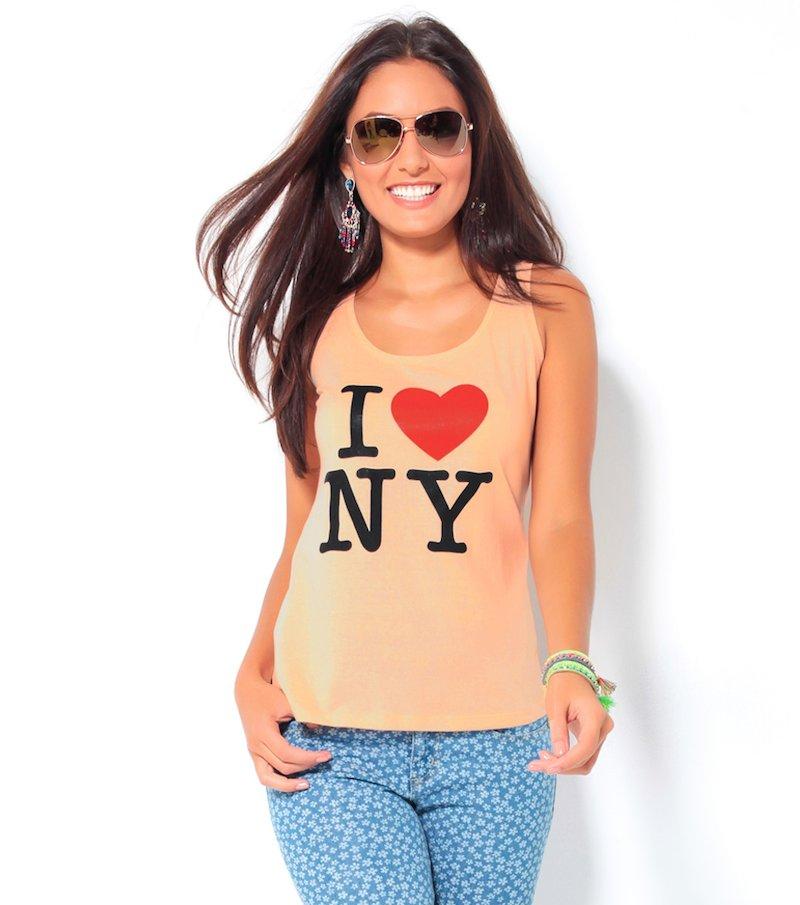 Camiseta tirantes de mujer estampado delantero