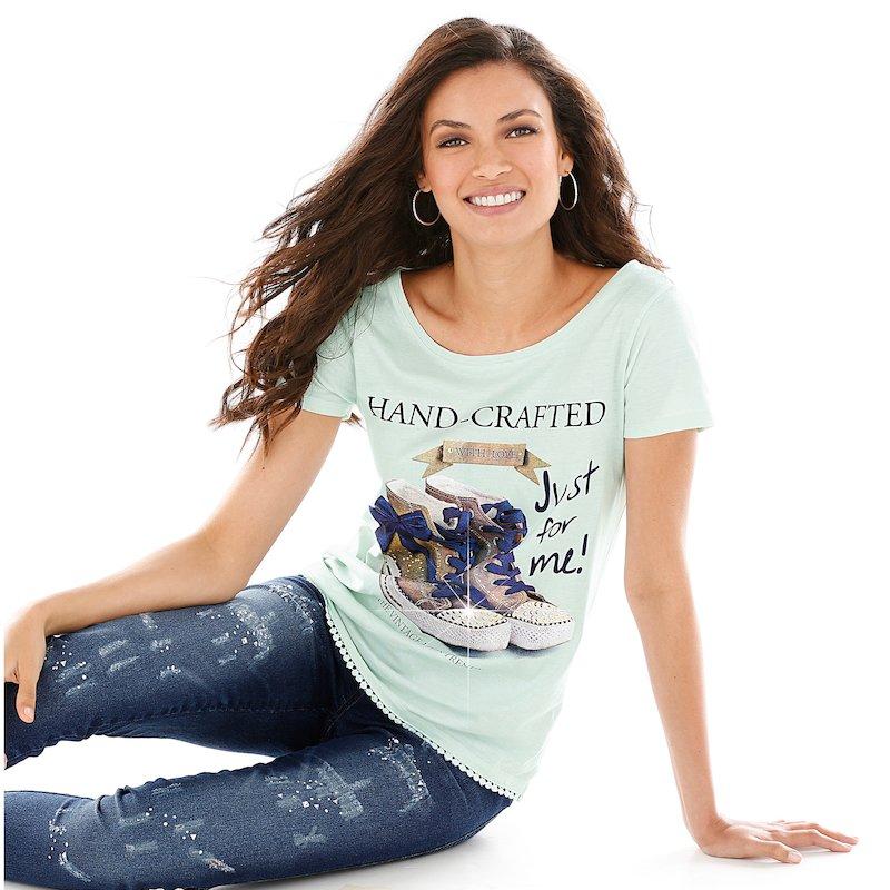 Camiseta mujer con estampado delantero