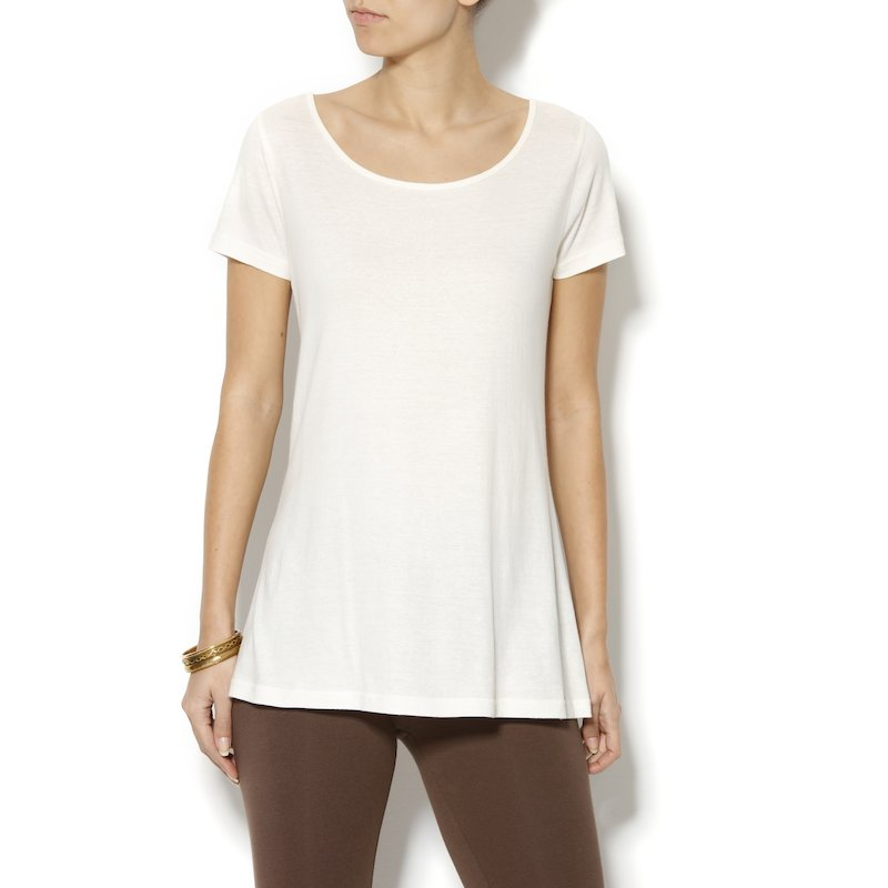 Camiseta línea evasé con original espalda cruzada