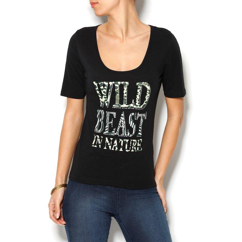 Camiseta mujer manga corta  animal print