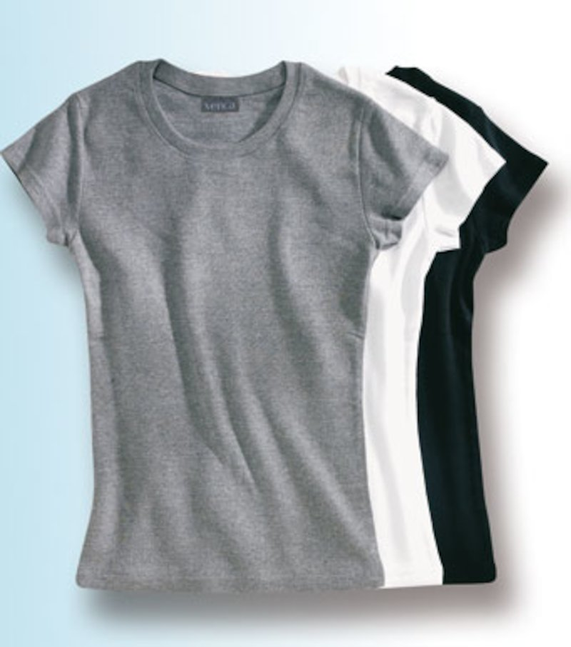 Lote 3 camisetas mujer manga corta punto liso