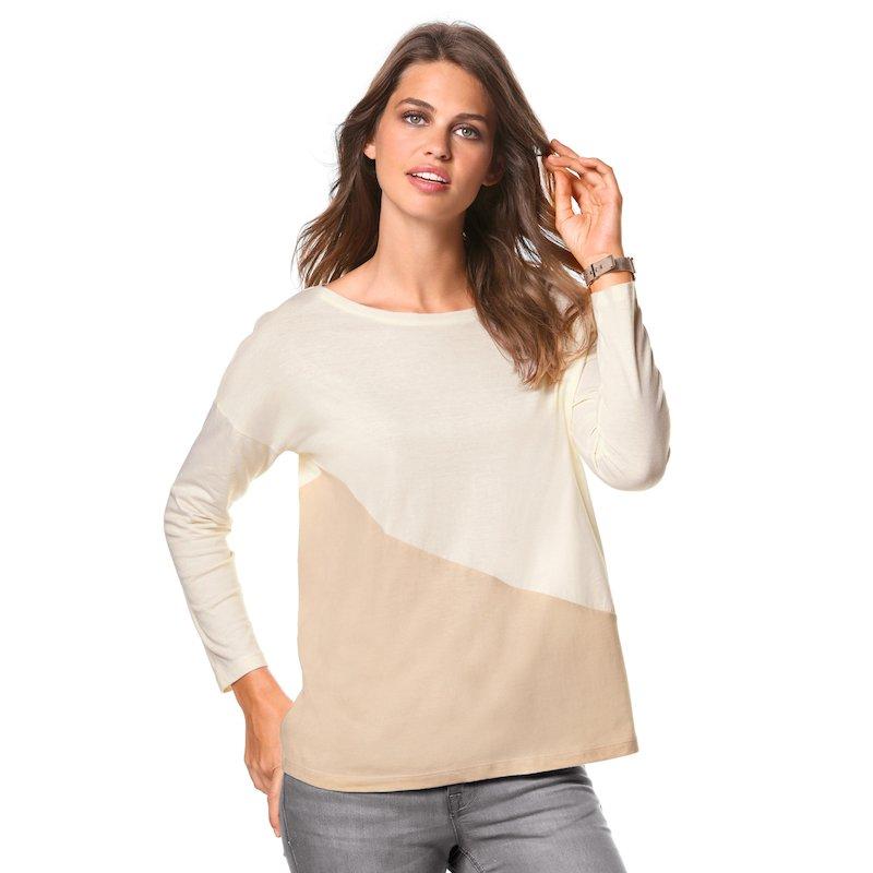 Camiseta mujer manga larga diseño de algodón