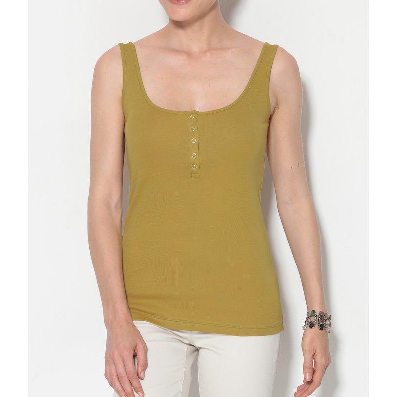 Camiseta mujer escote redondeado en 100% algodón