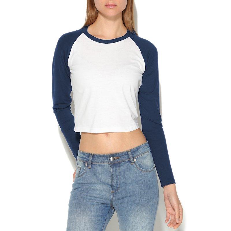 Camiseta de algodón mujer con manga larga