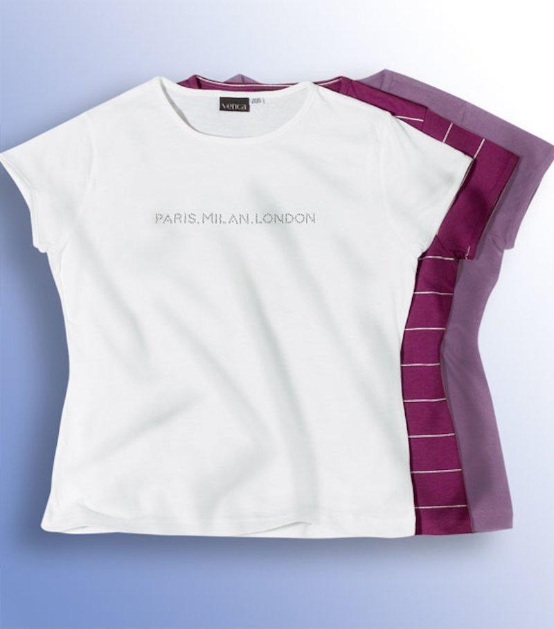 Lote 3 camisetas mujer 100% algodon