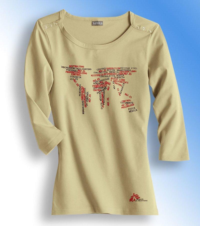 Camiseta mujer 100% algodón Médicos sin Fronteras - Negro